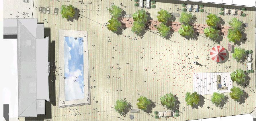 Etude pour le réaménagement de la Place Jeanne Hachette – Beauvais