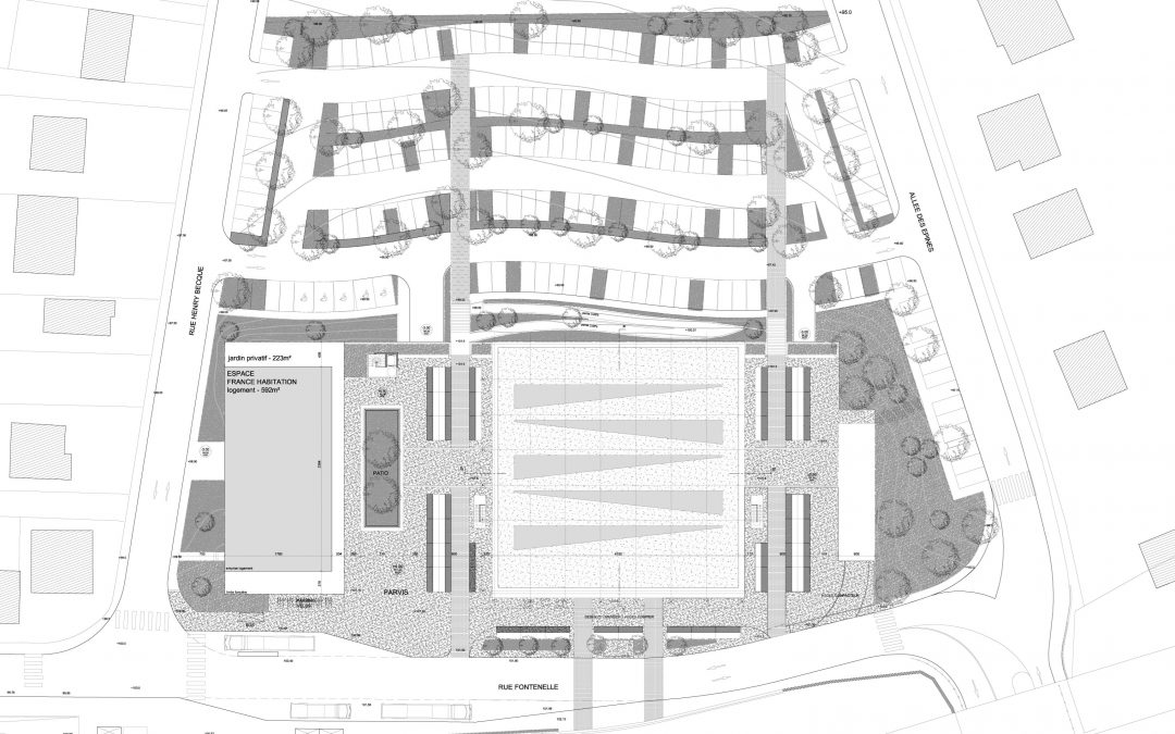 Etude pour la rénovation de la halle de marché et l'aménagement des espaces publics du quartier des Mézières à Marly-le-Roi